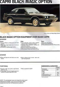 1981 Mercury Capri Black Magic https://plus.google.com/+JohnPruittMotorCompanyMurrayville/posts