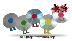 centopeia feita com reciclagem de cds