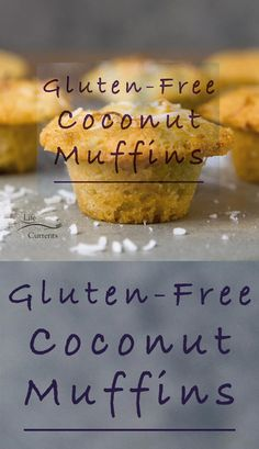 Gluten-Free Coconut Muffins are so good. Filled with coconut flavor from coconut milk, to coconut oil, and shredded coconut. These little muffins of goodness are a coconut lovers dream! And, they happen to be Gluten free. Easy No Bake Desserts, Fun Desserts, Best Gluten Free Recipes, Sweet Recipes, Cupcakes, Cupcake Cakes, Cupcake Recipes, Dessert Recipes, Muffin Recipes