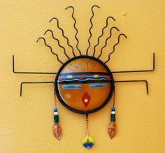 Native Art, Native American Art, Cowboy Knot, Copper Artwork, Painted Gourds, Sun Art, Southwest Art, Masks Art, Indigenous Art