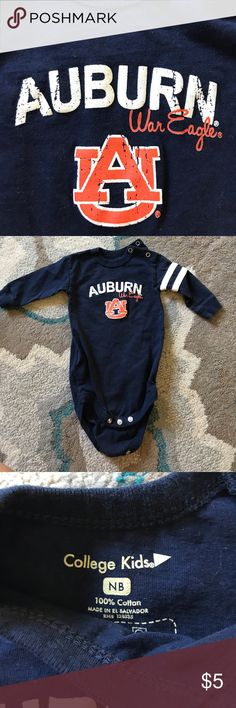 War Eagle Newborn onsie Cheer on the War Eagles from Auburn in this long sleeve newborn one piece Collage Kids One Pieces Bodysuits
