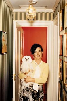 From the Archives: Inside Kate Spade's Park Avenue Apartment Andy Spade, Park Avenue Apartment, Kate Spade Designer, Anatole France, Celebrity Houses, Celebrity Style, Painted Wood Signs, Love Her Style, Halloween Themes