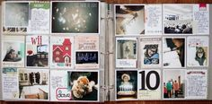 Project Life... a simplified version of the scrapbook that you do with time. I love the detail in it!
