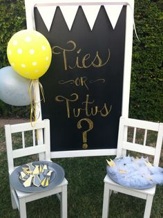ties or tutus sign- click on photo for more