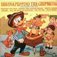 Irwin & Peppino the Chipmunk. #LP #cover