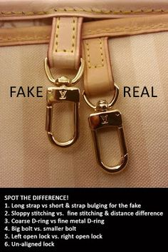 Fake vs. Real Louis Vuitton http://www.wondermika.com/2014/01/how-spot-fake-louis-vuitton-bag-see-pictures-authenticate/