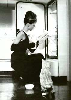 Audrey Hepburn and Cat from Breakfast at Tiffany's