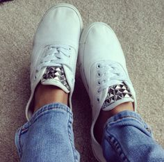 Studs and white keds
