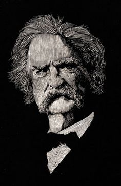 """""""Mark Twain,"""" by Barry Moser available at the R. Michelson Galleries"""