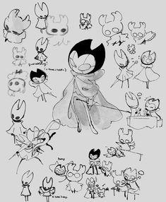 Character Art, Character Design, Team Cherry, Hollow Night, Hollow Art, Knight Art, Video Game Art, Grimm, Cute Art