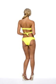 Peixoto Swimwear Alda Bottom, The high quality designer bikini fabric feels smooth against your skin, and sits comfortably on your hips, creating an alluring look sure to turn heads. Pair this fun sporty bikini along with the matching Tamarin Keyhole Neon Yellow Bikini Top for the best look! #yellowbikini #peixotoswimwear