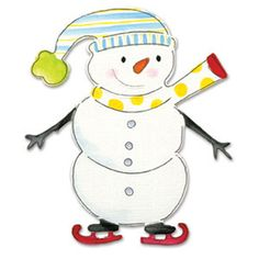 Brand New - SIZZIX  Bigz Die - SNOWMAN - ANIMAL DRESS UP - Christmas - HOLIDAYS #Cuttlebug
