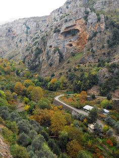 LEBANON, QADISHA VALLEY IN AUTUMN