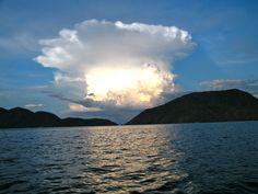 A gorgeous cloud over Lake Malawi