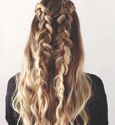 2 BRAIDS, 3 WAYS - Looking for Hair Extensions to refresh your hair look instantly? focus on offering premium quality remy clip in hair.(Hair Extensions Clip In) Pretty Hairstyles, Easy Hairstyles, Hairstyle Ideas, Spring Hairstyles, Wedding Hairstyles, Classic Hairstyles, Hairstyles 2018, Wedding Updo, Latest Hairstyles