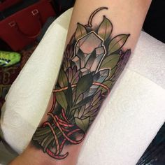 unique Tattoo inspiration 2017 - rizzabootattoos:Tattooed this sage and crystal bundle for Emma...