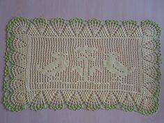 Handmade doilies (23 x13nch) (60 x 34cm) by Ela Mazek
