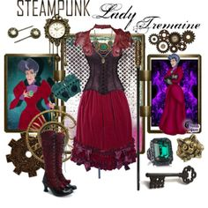 """""""Steampunk: Lady Tremaine"""" by ghsdrummajor on Polyvore"""