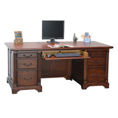 Double Pedestal Executive Desk | National Business Furniture