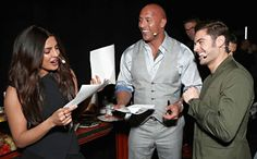 """@InstaMag - Actress-producer Priyanka Chopra has taken the top spot on Top Actors chart beating her """"Baywatch"""" co-stars Dwayne Johnson and Zac Efron."""