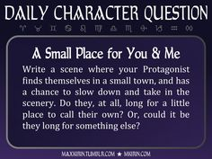 Daily Character Question