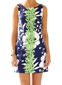 Lilly Pulitzer Delia Shift Dress in Bright Navy Johnny B