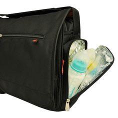 Fisher-Price FastFinder Messenger Diaper Bag - Black : Target