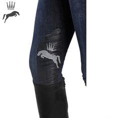 a19f58cceb6 Spooks Ricarda Knee Grip Breeches - Denim Riding Breeches