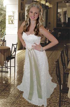 Angela Custom Linen Wedding Dress