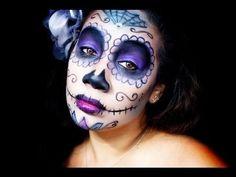 HALLOWEEN MAKEUP: Sugar Skull Dia de los Muertos Day of the #sugarskull #halloween #makeup #spooky  - bellashoot.com