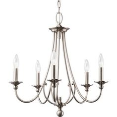 Kichler Exclusives Camella 5-Light Chandelier, Brushed Nickel ...