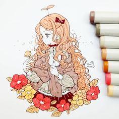Image in art/anime/cartoon collection by lina Chibi Anime, Art Anime, Anime Art Girl, Manga Anime, Kawaii Art, Kawaii Anime, Beautiful Drawings, Cute Drawings, Manga Drawing