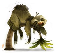 Day 522. Sketch Dailies Challenge - Sloth by Cryptid-Creations.deviantart.com on @deviantART