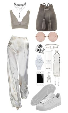 """UPSCALE FESTIVAL STYLE"" by mimiih on Polyvore featuring Linda Farrow, Ettika, Topshop, Gaydamak, Marlo Laz, adidas, Chanel, Marc by Marc Jacobs and Tom Ford"