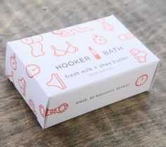 HOOKER BATH | Hooker Bath Soap 4 oz sculpted soap in box Fresh Milk + Shea Butter