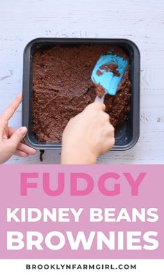 This Fudgy KIDNEY BEAN Brownies recipe is the BEST! These brownies are easy to make, moist and made with red beans to make them more healthy! They have a thic Baby Food Recipes, Cooking Recipes, Muffin Recipes, Cooking Tips, Banana Recipes Videos, Red Bean Dessert, Healthy Cookies For Kids, Red Beans Recipe, Recipes With Kidney Beans