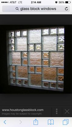 Decorative colored glass blocks create a welcoming for Glass block window sizes