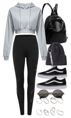 """Working Out"" by nikka-phillips ❤ liked on Polyvore featuring ASOS and Vans"