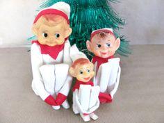 Vintage Christmas Elves 1960's Knee Hugger by ThirstyOwlVintage