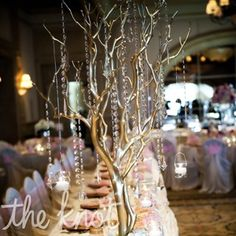 Gold and Crystal Centerpiece - would it be too much with cranes, as a centerpiece