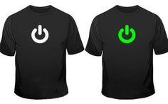 Glow In The Dark Power On Print Gadget Geek T-Shirt