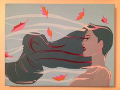 Pocahontas Colors Of The Wind Canvas Painting by KaleyCrafts
