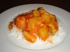 Cary (Curry) with Chicken and Potatoes