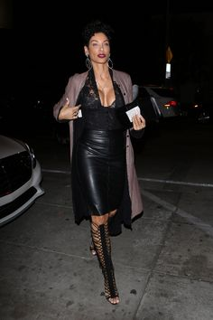 Nicole Murphy See Through Photos) via Nicole Murphy at Catch in Los Angeles, Small areola peek. Nicole Mitchell Murphy is an American model, television personality,. Star Fashion, Fashion Models, Fashion Beauty, Womens Fashion, Beautiful Women Over 40, 50 And Fabulous, Fit Women, Black Women, Fall Outfits