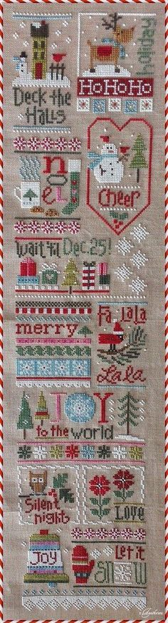 Jingles - Lizzie Kate - Crafts For The Times Xmas Cross Stitch, Cross Stitch Love, Cross Stitch Samplers, Cross Stitch Charts, Cross Stitch Designs, Cross Stitching, Cross Stitch Embroidery, Cross Stitch Patterns, Loom Patterns