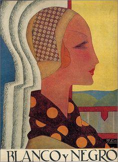 Esteban De Sousa. Cover from Portuguese magazine, Blanco y Negro.