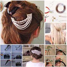 como hacer adornos para el cabello paso a paso - Buscar con Google