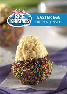 Easter Egg Dipper Treats — Mold these egg shapes and dip them into chocolate and brightly colored sprinkles with your kids for extra-special Easter basket goodies.