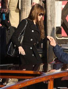 b28d73d005a9 Angelina Jolie and Stella McCartney Chain-Detail Hobo Bag Photograph