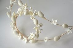 Wax flowers and stamens crown/ Bridal wax headpiece/ Wax floral headpiece / Vintage style / Wedding crown / Bridal wreath Vintage Headpiece, Bridal Headdress, Flower Headpiece, Headpiece Wedding, Bridal Headpieces, Flower Crown Wedding, Wedding Hair Flowers, Bridal Crown, Boho Bridal Hair